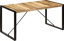 VIENDADPOW Tavolo da Pranzo 160x80x75 cm in Legno