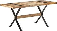 VIENDADPOW Tavolo da Pranzo 160x80x76 cm in Legno