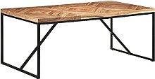 VIENDADPOW Tavolo da Pranzo 180x90x76 cm Legno