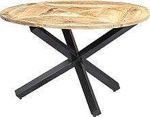 VIENDADPOW Tavolo da Pranzo Rotondo 120x76cm in