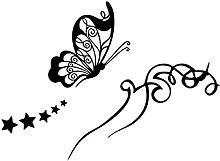 Vinile adesivo da parete arte fai da te farfalla