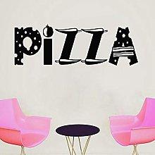 Vinile Adesivo Pizza Logo Offerta Pizzeria
