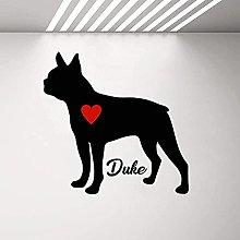 Vinile cane adesivo da parete personalizzato nome