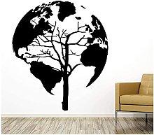 Vinile Fai Da Te Mappa Del Mondo Adesivo Murale
