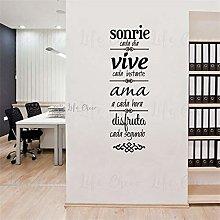 Vinile spagnolo parola adesivo regole della casa