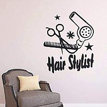 Vinile Wall Sticker Parrucchiere Forbici Adesivo