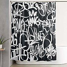 VINISATH Tenda da Doccia,Tag Hip Hop Graffiti