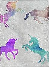 Viola Verde Grigio Unicorno Bandiera del Giardino