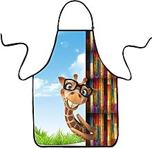 VIPbuy - Grembiule da cucina, con stampa animale,