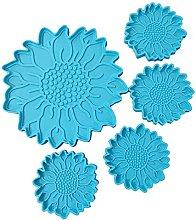 VIVIXIXILAOJH - Set di 5 vassoi per fiori a forma