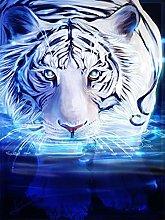 VooZuGn Pittura Diamante 5D Tondo Completo Tigre