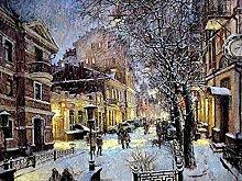 VooZuGn Pittura Diamante Città Neve Invernale