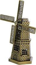 VOSAREA 1 Set Mulino A Vento Figurine di Metallo