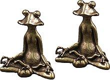 VOSAREA 2Pcs in Ottone Figurine Animale Piccolo