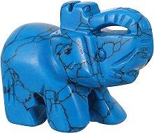 VOSAREA Avventurina Elefante Figurine di Cristallo