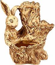 VOSAREA Coniglio Fioriera Resina Succulente Vaso