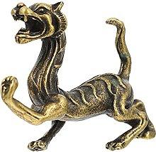 VOSAREA Feng Shui Tiger Statua in Ottone Tigre