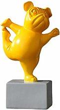 VOSAREA figurina Cane in Resina Yoga Cucciolo