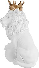 VOSAREA Lion Statua in resina Crown Leone Scultura