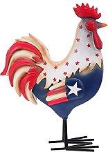 VOSAREA Patriottica Gallo Statua USA Flag Gallo