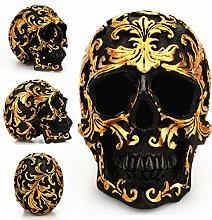 VOSAREA Resina Cranio Figurina, Decorativo Teschio