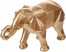 VOSAREA Statua geometrica, elefante bianco,