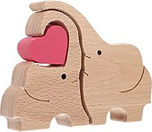 VOSAREA Statua in legno a forma di elefante, in