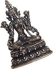 VOSAREA Tara Statua di Buddha Mini Retro in Ottone