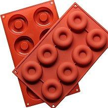 Wady, stampo in silicone per donuts a 8 fori, per