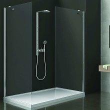 Walk-in doccia 80x70cm cristallo trasparente