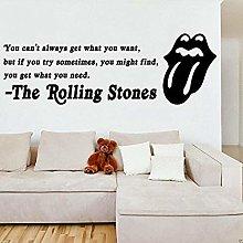Wall art decorazione della casa rolling stone band