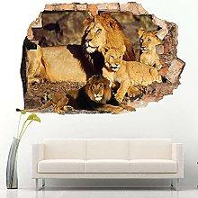 Wall Sticker 3D -- Leoni Safari Animali Gatti