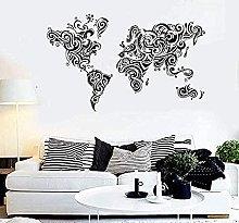 Wall Sticker Art Sticker Murale Pompaggio Mappa
