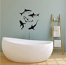 Wall Sticker Art Vinile Adesivo Shark Bagno