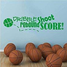 Wall Sticker Moda Creativo Adesivo Basket Shooting