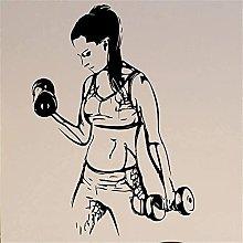 Wall Sticker Soggiorno Fitness Decalcomania Della