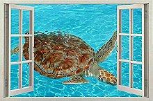 Wall Window Art 3D Decalcomania decorativa Adesivo