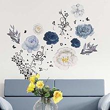 Walplus - Adesivi da parete con fiori