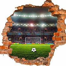 wandmotiv24 Adesivo da Parete 3D Campo da Calcio,