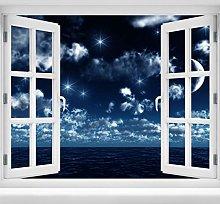 wandmotiv24 Adesivo da Parete 3D Cielo Notturno,