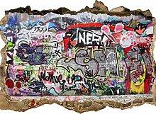 wandmotiv24 Adesivo da Parete 3D Graffiti 1,