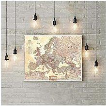 WANGHH Mappa Europa Vintage Geografia Nazionale