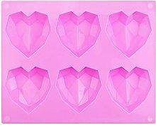WANTOUTH Stampo Cuore Diamante Stampo in Silicone