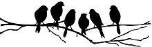 WANWE Birds ON A Wire Wall Stickers Birds Wall