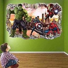 WARMBERL 3D Pegatinas De Pared Avengers Superhero