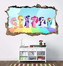 WARMBERL Adesivo Murale My Little Pony 3D Smashed