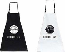Watwass 2 Pezzi Grembiule Cucina Cotone Unisex per