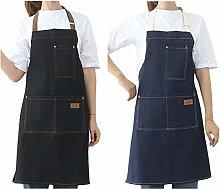 Watwass 2 Pezzi Grembiule di Jeans Donna Cucina