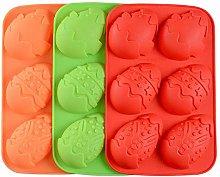 WEEA Stampo per uova di Pasqua in silicone, teglia