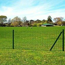 Weilandeal - Set di recinzioni Euro, 25 x 1,2 m,